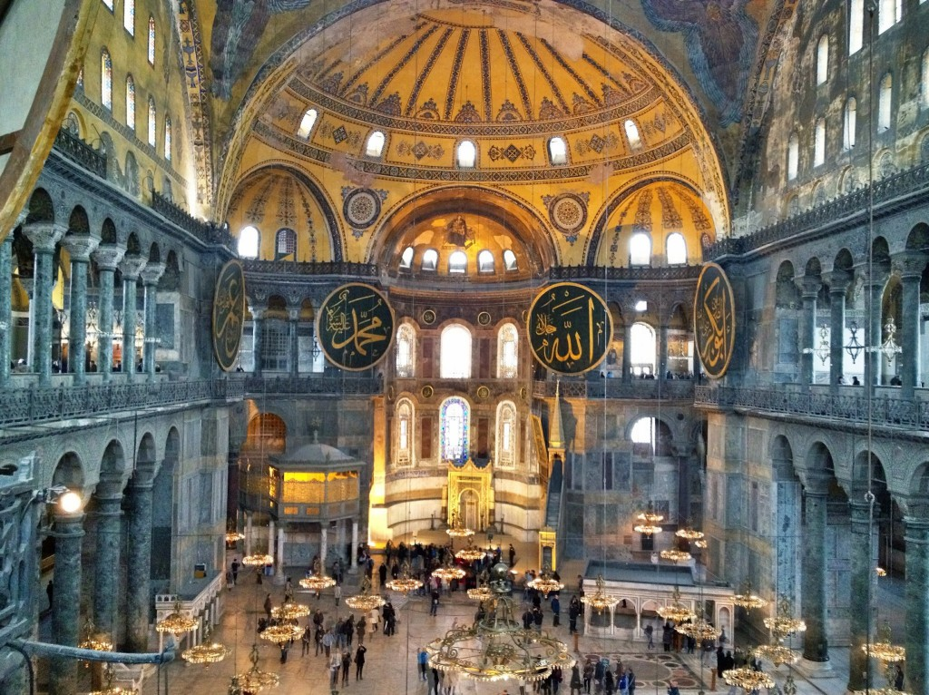 Aya Sofia in Istanbul, one of Robert Langdon's stops